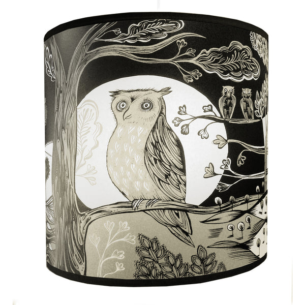 Owl Lampshade - Black