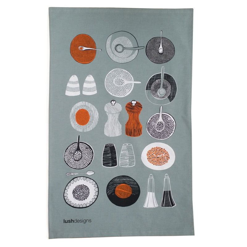 Salt and Pepper Tea Towel