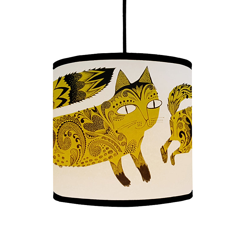Kitty lampshade - Mustard