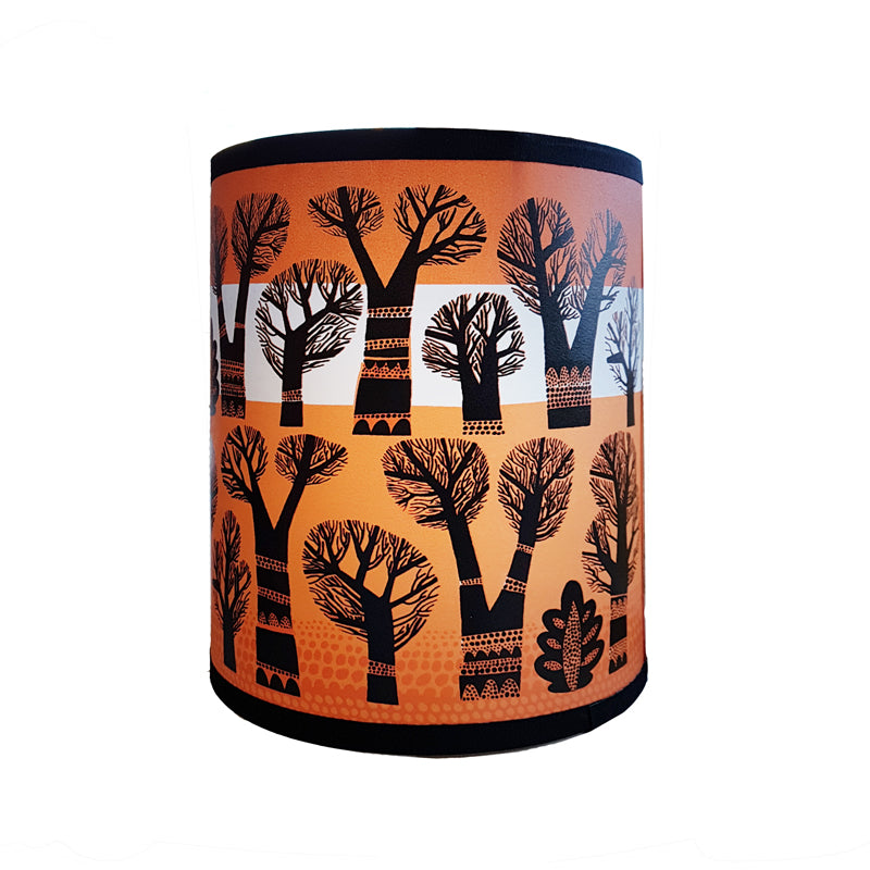 Winter Trees lamp shade (Orange)