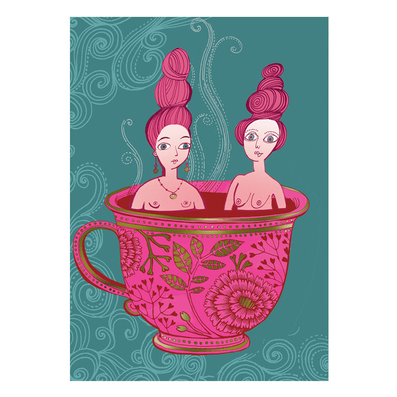 Tea Cup Ladies Card
