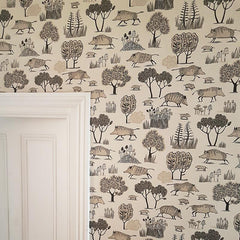 Lush Designs Wild boar wallpaper