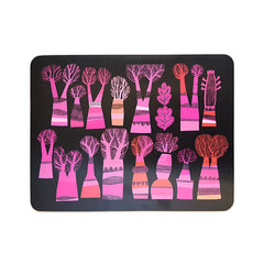 Winter Trees Sunset large table mat