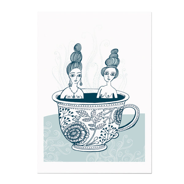 Teacup Ladies Print