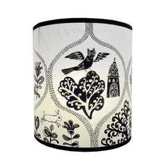 Cottages & Castles Lampshade - Black/Cream