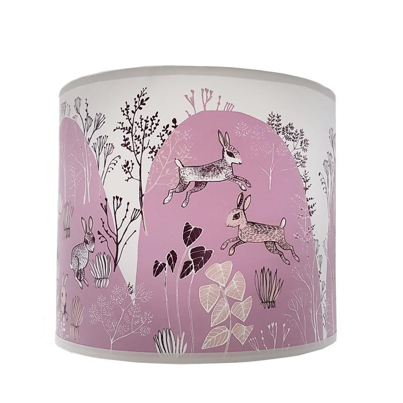 Rabbit lamp shade pink