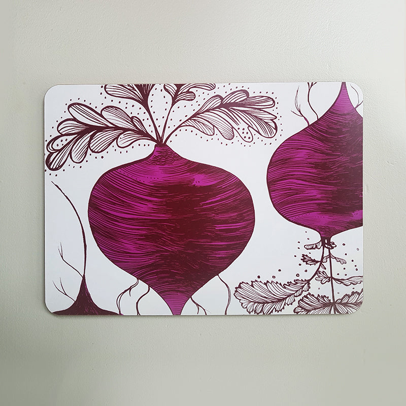 Lush Designs beetroot print table mat