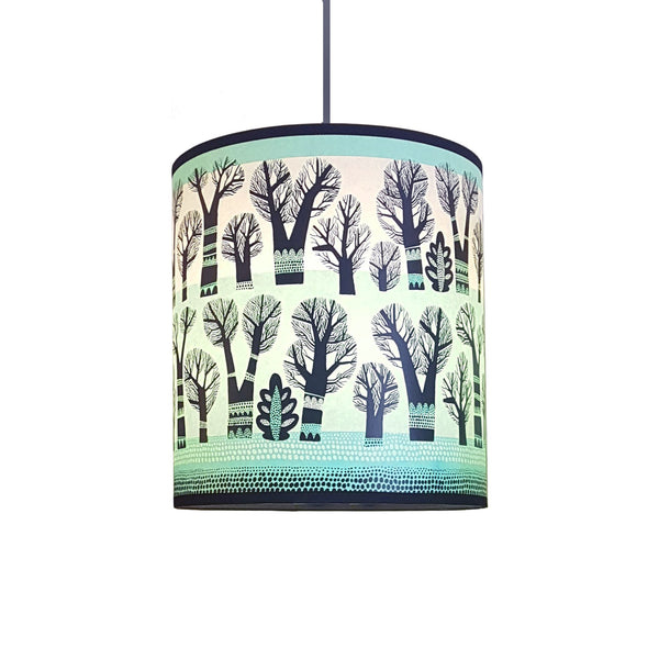 Winter Trees lamp shade (Spearmint)