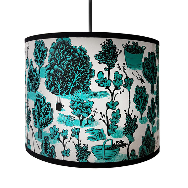 Pruning lampshade - Turquoise