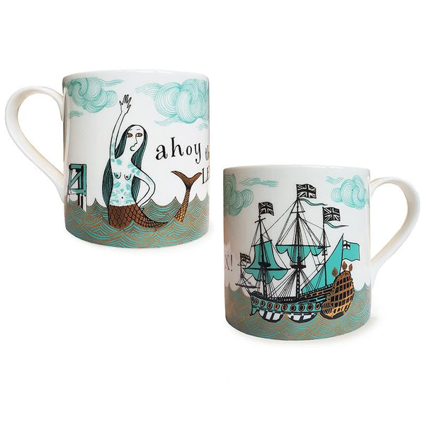 Ship/Mermaid Mug