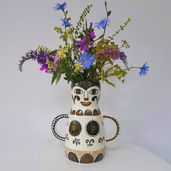 Lush Designs lady-shaped vase with summer wild flowers