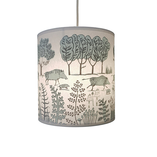 Wild boar Lampshade - Blue