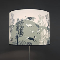 Large blue Stag lampshade SECOND lamp