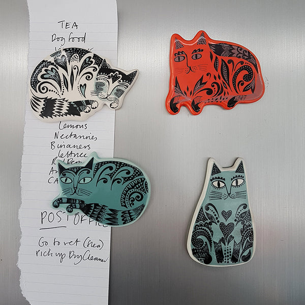 Set of Fridge Magnets: Cats