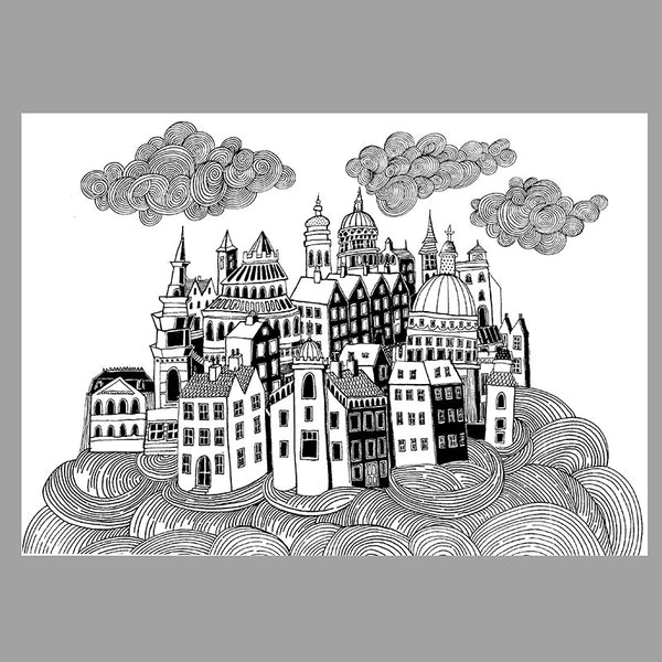 FREE Downloadable colouring page Sky City