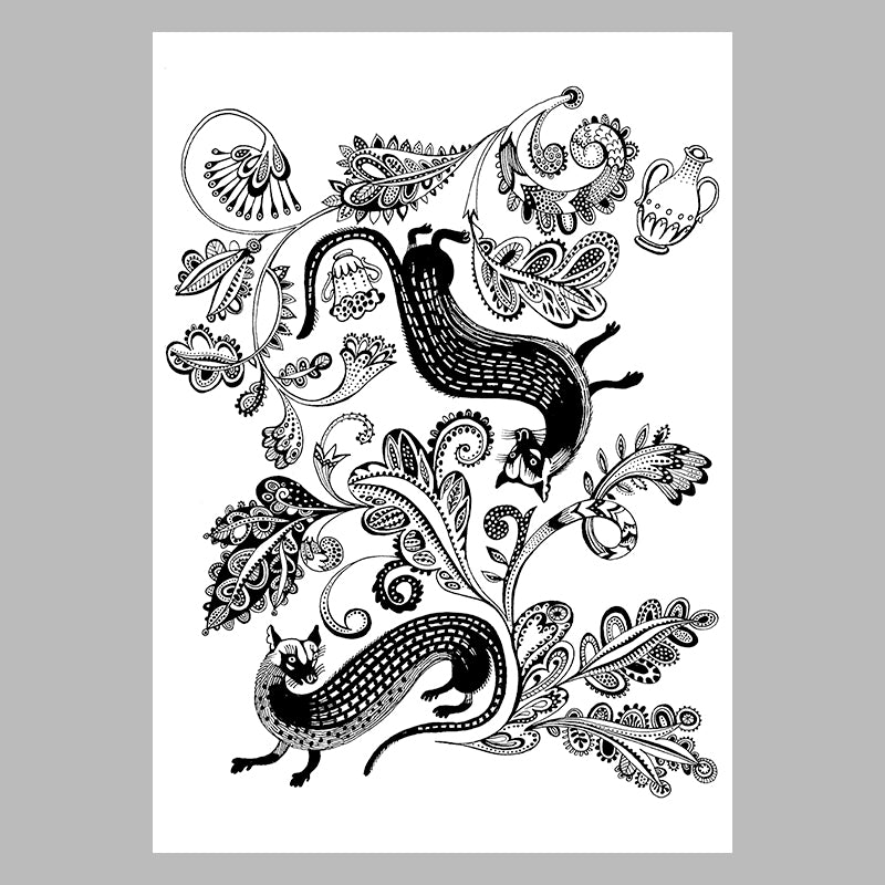 FREE Downloadable colouring page Civets