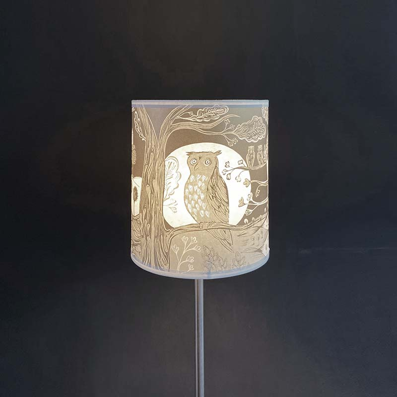 Owl Lampshade SECOND - Gold (pendant)