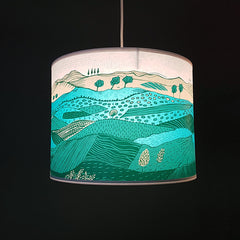Green Landscape Lampshade SECOND