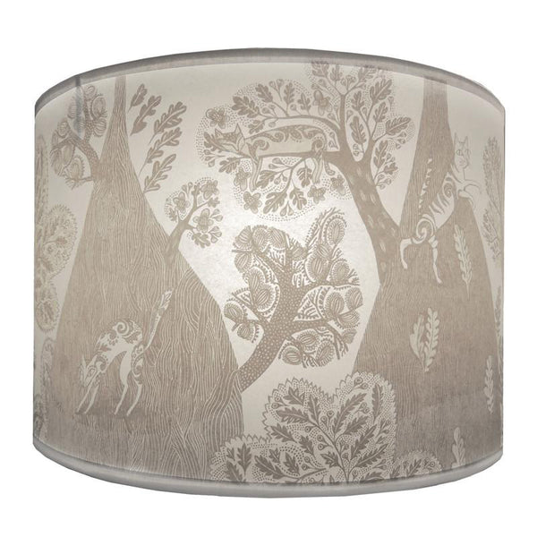Cat Lampshade - Grey/white