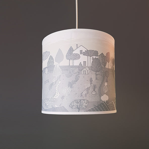 Back Garden Lampshade, grey SECOND