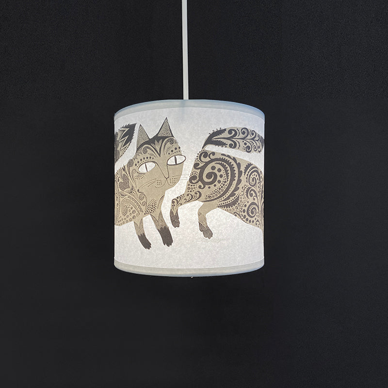 Small Kitty Lampshade (Grey) SECOND