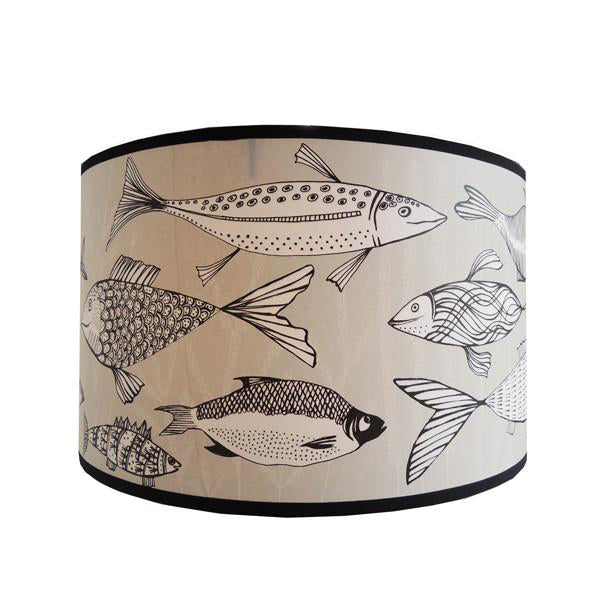 Fish Lampshade - Cream/Black