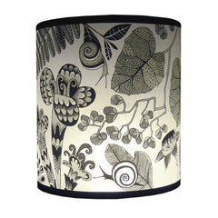 Flowers & Snails Lampshade - Grey