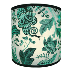 Flowers & Snails Lampshade - Turquoise
