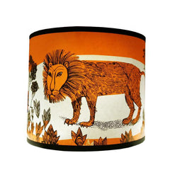 Lush Designs lampshade with orange lion print