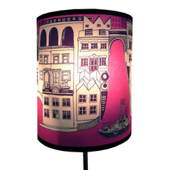 Lush Designs smaller London lampshade in blackcurrant pink and purple