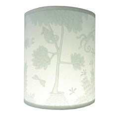 Lush designs duck-egg blue monkey print lamp shade in smaller size