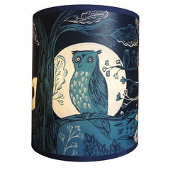 Lush Designs small owl lampshade in deep blue