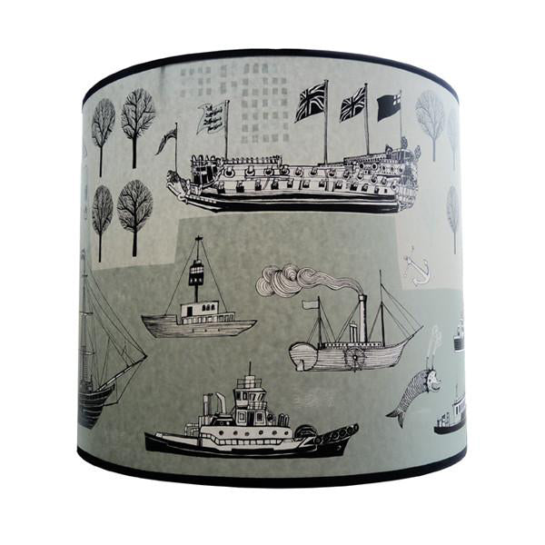 Big Ship Lampshade - Teal