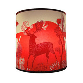 Lush Designs Stag print lampshade in shades of red