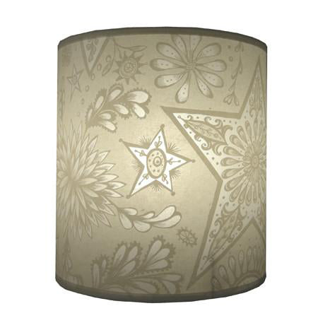 Stars and Flowers Lampshade - Cream