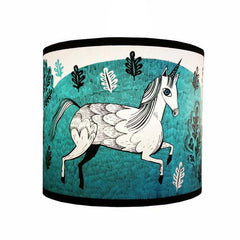 Unicorn print lampshade