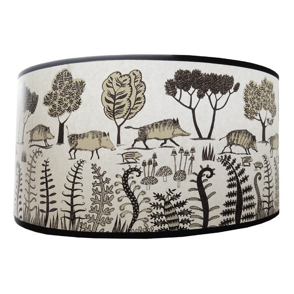 Wild boar Lampshade - Brownish black