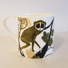 Lush Designs mug with slender Loris print