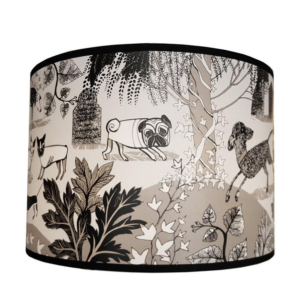 Lighting lush designs dog lampshade black mozeypictures Image collections