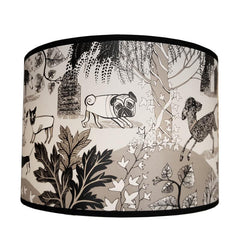 Dog lampshade black