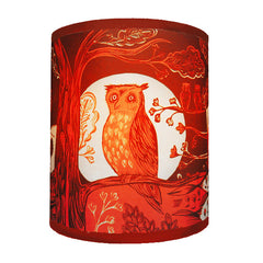 Owl Lampshade - Red