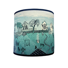 Back Gardens Lampshade blue-green