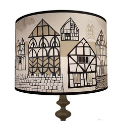 Tudor Village Lampshade - Black