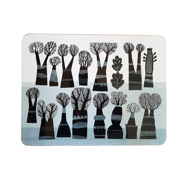 Winter Trees large table mat