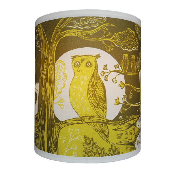 Owl Lampshade - Green