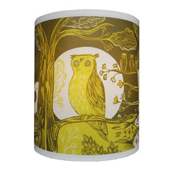 Lush Designs smallest green owl print lamp shade