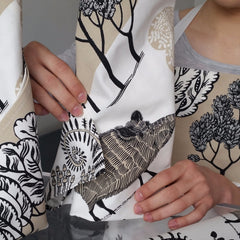 Lush Designs napkins and apron with wild boar print