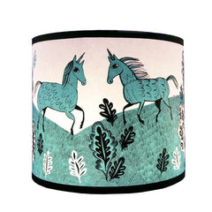Unicorn lampshade in turquoise
