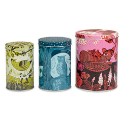 Set of three animal tins