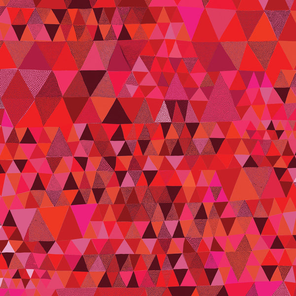 Triangles Gift Wrap red